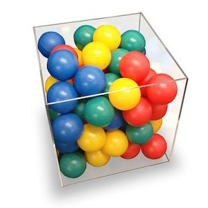 กล่องอะครีลิคสำหรับใส่ของ ขนาด 15x15x15cm 5 ด้าน