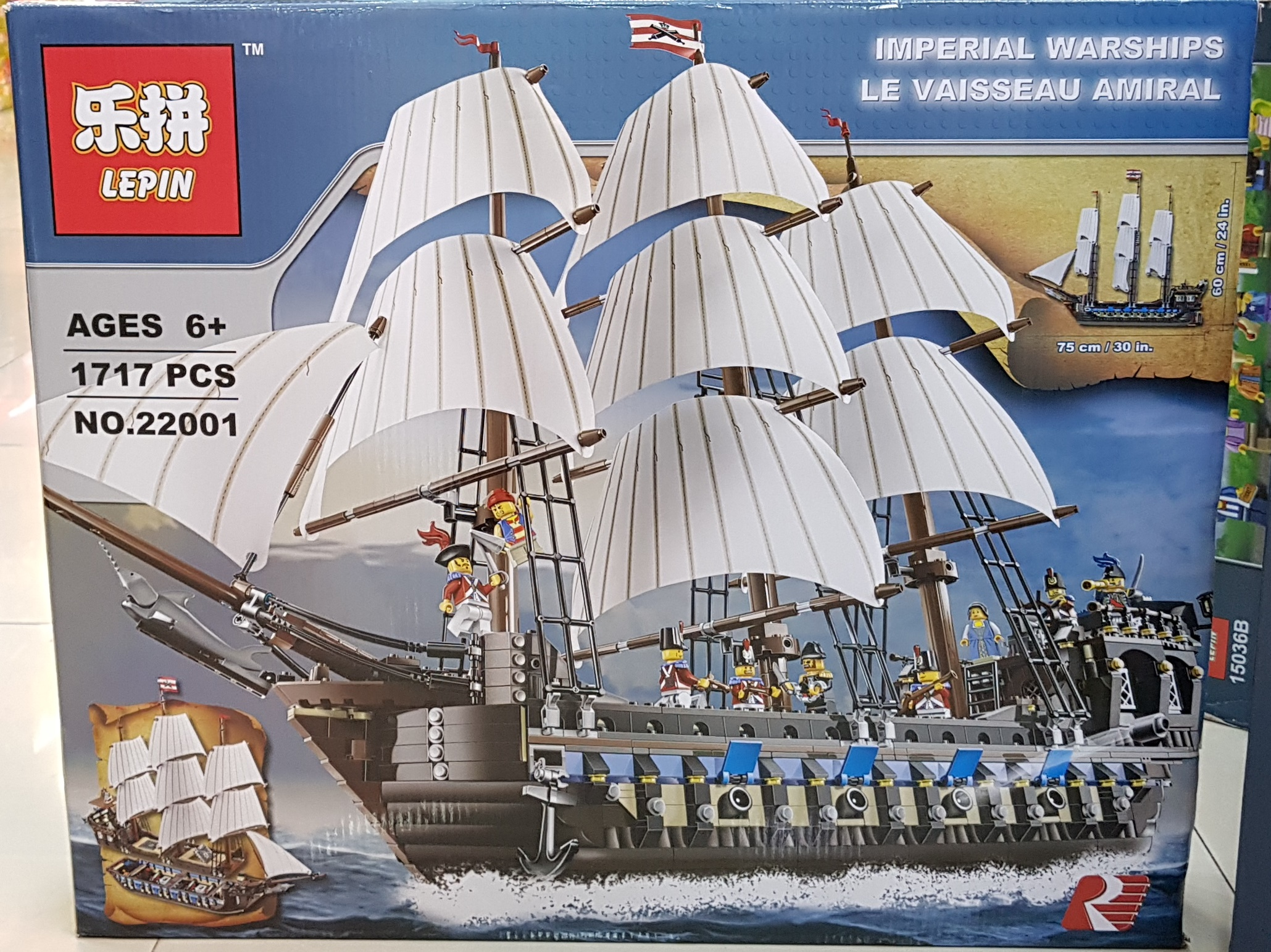 LEPIN IMPERIAL WARSHIPS LE VAISSEAU AMIRAL 22001 [1717ชิ้น]
