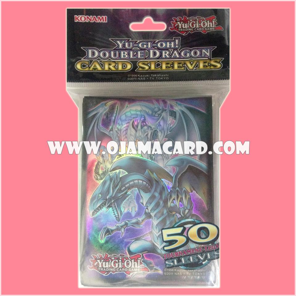 Yu-Gi-Oh! TCG Double Dragon Card Sleeve : Azure-Eyes Silver Dragon & Blue-Eyes White Dragon 50ct.