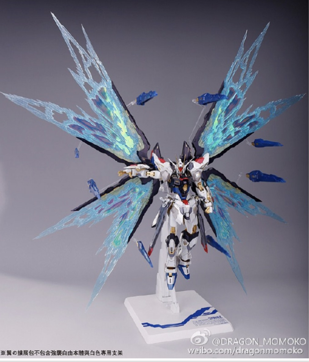 [ZGFM-X20A] MG 1/100 Strike Freedom Ver.MB + Wing Expansion Effect parts of Strike Freedom , Destiny + Base [Dragon Momoko]