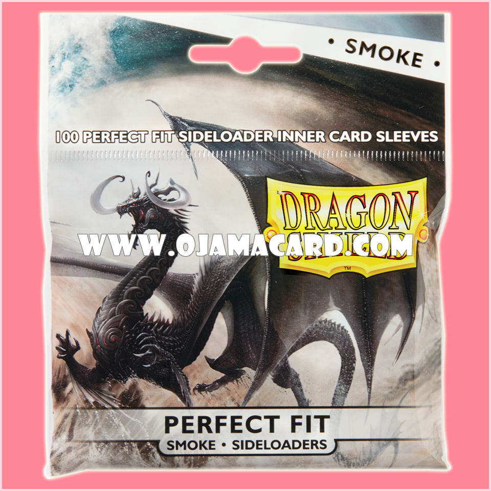 Dragon Shield Perfect Fit Sideloader Standard Size Inner Card Sleeves - Smoke 100ct.