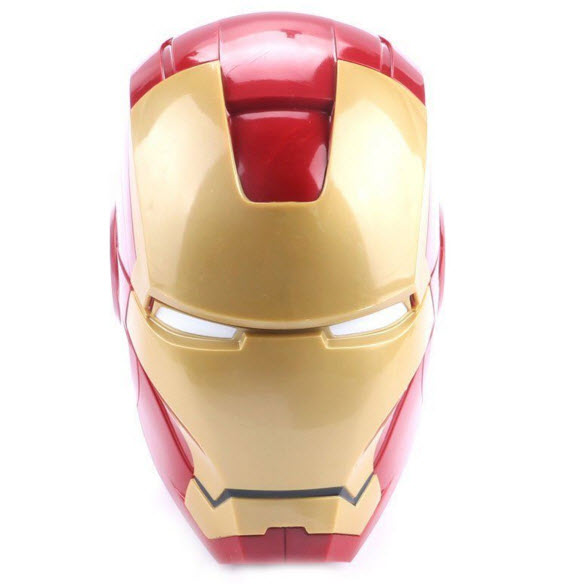 Iron Man 3D Helmet plastic cup (White Eye)