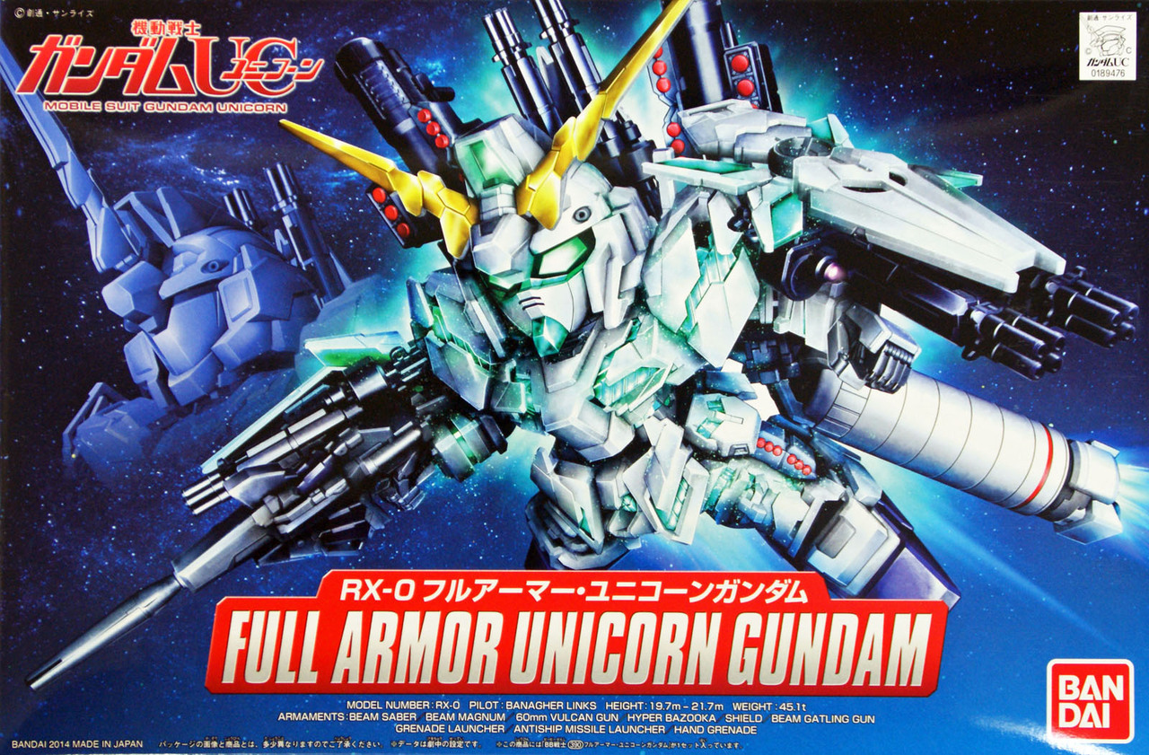 SD FULL ARMOR UNICORN GUNDAM BANDAI