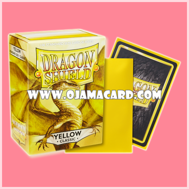 Dragon Shield Standard Size Card Sleeves - Yellow • Classic 100ct.