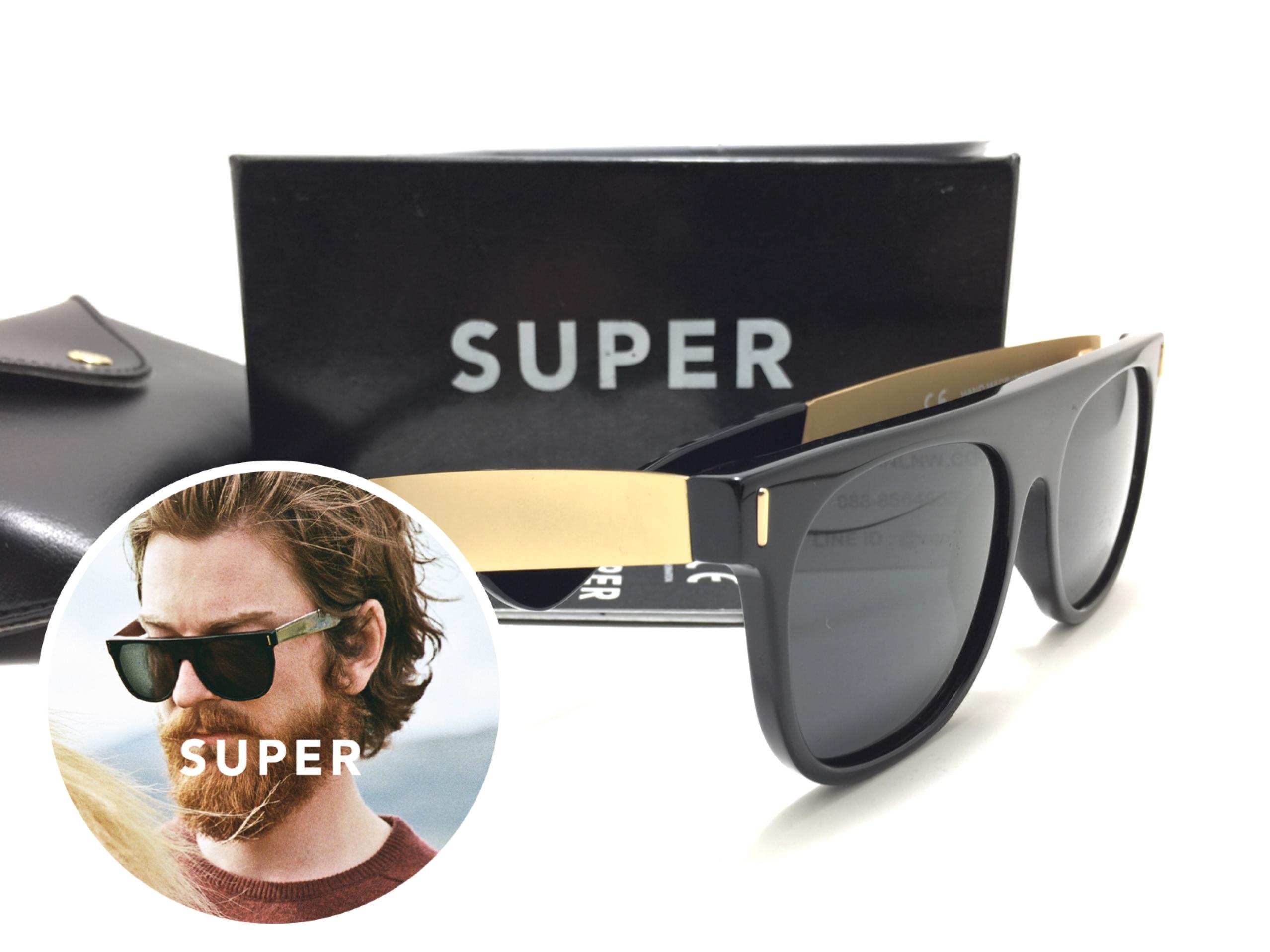 แว่นกันแดด SUPER Flat Top Black Francis <ดำ>