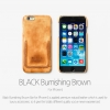 ZENUS : Leather BLACK Burnishing Bar Case Cover for Apple iPhone 6 (4.7inch)