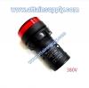 หลอดหน้าปัดหัวตัด22MM.-380V/สีแดง