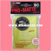 Ultra•Pro Pro-Matte Small Deck Protector / Sleeve - Bright Yellow 60ct.