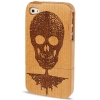 Woodcarving Skull Wood Material Case iPhone 4 & 4S