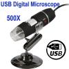 กล้อง microscope 1.3 ล้านพิกเซล ซูม 500X ไฟ LED 8 สีขาว