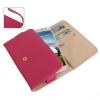 Case เคส กระเป๋าสไตล์ Litchi สีชมพูเข้ม Samsung GALAXY S4 IV (i9500)