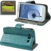 Case เคส Crocodile Samsung Galaxy S 3 III (Aeruginosa stone)