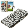 Case เคส White and Coffee Leopard Samsung GALAXY S4 IV (i9500) redictshop