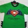 Batman VS Superman - (งานลิขสิทธิ์) เสื้อยืดแบทแมนvsซุปเปอร์แมน สีเขียว แต่งหนามชายเสื้อ ใส่สบาย ลำลองๆ ได้ทุกวัน size L