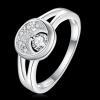 R884 แแหวนเพชรCZ ตัวเรือนเคลือบเงิน 925 หัวแหวนรูปพระจันทร์เสี้ยว ขนาดแหวนเบอร์ 8