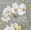 74467 ดอกไม้ขาวพื้นเทา กระดาษแนปกิ้น เดคูพาจ
