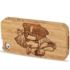 Woodcarving Boy Bamboo Material Case iPhone 4 & 4S