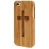Case เคส Cross Woodcarving iPhone 5