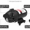 ปั๊มน้ำ RO Pump DC24V 150PSI 800G ( 10 บาร์ )