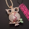 Lovely Owl Crystal by Betsey Johnson สร้อยคอยาวแต่งจี้นกฮูกแต่งคริสตัลแสนสวย