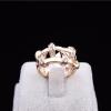 Gold Knot Crystal Ring แหวนสีทองรูปเงื่อนแต่งคริสตัล สไตล์เกาหลี