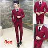สูท,สูทแฟชั่น+เสื้อกั๊ก ครบเซต สีแดงเข้ม คลิกเพื่อดู Size