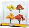 SP4153 AUTUMN TREES ต้นไม้แนวฤดูใบไม้ผลิสีแดง เหลือง ขนาด 2-3 นิ้ว