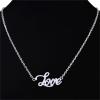 ซื้อของขวัญให้แฟน Silver Love Necklace สร้อยคอสีเงินแต่งจี้ความรัก Love