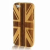 Case เคส Woodcarving United Kingdom Flag iPhone 5