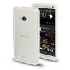 Case เคส TPU + Transparent Plastic Bumper Frame HTC One M7 (White)