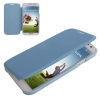 Case เคส Cross Leather + Plastic Samsung GALAXY S4 IV (i9500) (Baby Blue)