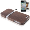 Walnut Wood Material Detachable Case iPhone 4 & 4S