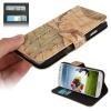 Case เคส กระเป๋าหนังลายแผนที่ Samsung GALAXY S4 IV (i9500) redictshop