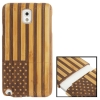 Woodcarving USA Flag Pattern Detachable Bamboo Material Case เคส Samsung Galaxy Note 3 (III) / N9000 ซัมซุง กาแล็คซี่ โน๊ต 3