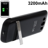 3200mAh Scrub Portable Power Bank Samsung Galaxy S 3 III (Black)