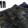 Kidsplanet (เด็กโต)-----กางเกงยีนส์สีดำ เดินด้ายสีน้ำตาลทอง ทรงสวย เอวยืดมีเชือกผูก หล่อเท่ห์มากค่ะ ผ้าก็ดี๊ดี size 6, 7, 8