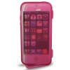 Case เคส Pure Color Horizontal Flip TPU iPhone 5 (Magenta)