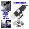 กล้อง microscope 2.0 ล้านพิกเซล ซูม 800X ไฟ LED 8 สีขาว