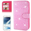 Rubbery Diamond Encrusted for Samsung Galaxy Note II / N7100 (Magenta)