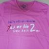 เสื้อยืด Yes Or No 2 ชมพู ไซส์ L