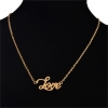 ซื้อของขวัญให้แฟน Gold Love Necklace สร้อยคอสีทองแต่งจี้ความรัก Love