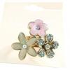Sweet Style Flower Ring แหวนช่อดอกไม้แต่งคริสตัลสไตล์หวาน
