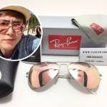 RB 3025 AVIATOR LARGE METAL 019/Z2 58-14 3N <ปรอทชมพูกรอบเงินด้าน>