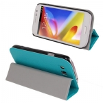 Case เคส 3-fold Litchi Magnetic Samsung Galaxy Grand Duos (i9082) (Turquoise)