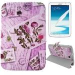 Case เคส 3-folding Postcard Series Carnation Samsung Galaxy Note 8.0 (N5100)