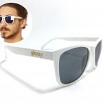 แว่นกันแดด Glassy Sunhaters Deric White 54-18 140 <ขาว>