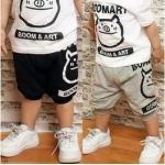 กางเกงเด็ก น่ารัก สไตล์เกาหลี สีเทาลายหมู (ซื้อ 3 ตัว ราคาส่ง 220 บาท) คละลายได้ค่ะ
