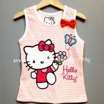 H&M---เสื้อกล้ามริ้วขาว-ชมพูโอรส ลายคิตตี้ Kitty สดใส น่ารัก ใส่สบาย เหมาะกับ summer นี้ค่ะ
