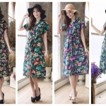 Vintage Orchid ShirtDress มี 4 สีค่ะ