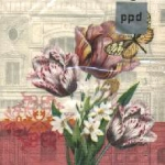 กระดาษแนปกิ้น เดคูพาจ 7731 butterfly and flower